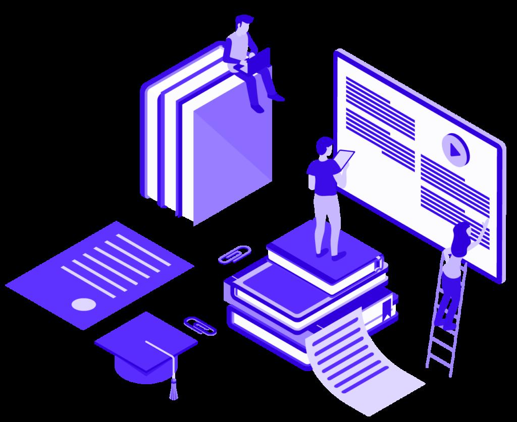 blockchain academy network illustration